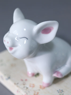 12 Zodiac Auspicious Pig ceramic decor