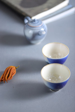 蓝 - jingdeshen hand-made Pu'er sea blue tea cup