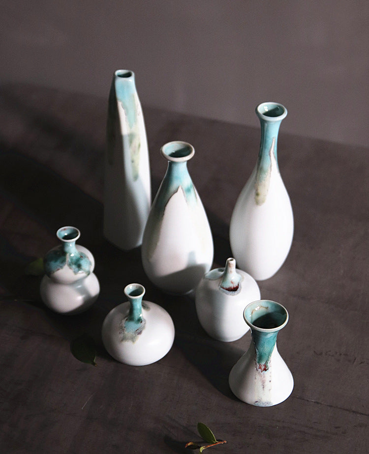 窑变 - classical kiln glaze small handmade ceramic vase