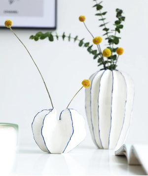 starfruit shaped ceramic vase