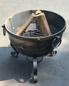 "Wrought Iron Fire Bowl 23"" High"