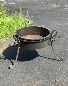 "Wrought Iron Fire Bowl 17"" High"