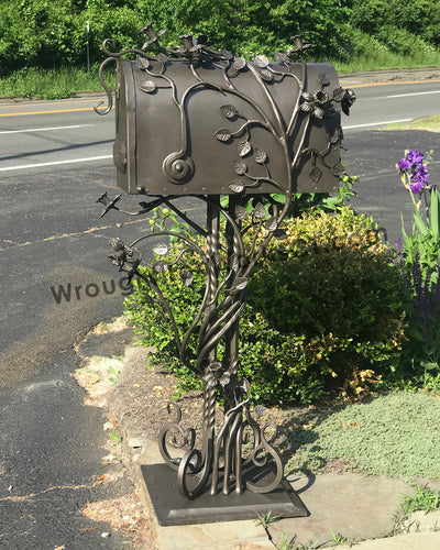 Wrought Iron Pedestal Mailbox