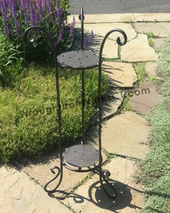 Wrought Iron Double Plant Stand