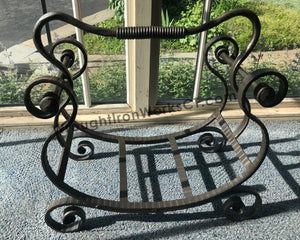 Wrought Iron Firewood Rack with Handle