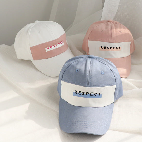 Fashion Stitching Color with Embroidery Letters (RESPECT) Baseball Hat Cap Sports Sun Hats
