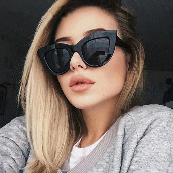 Retro Plastic Cat Eye Sunglasses Woman 2019 New Fashion