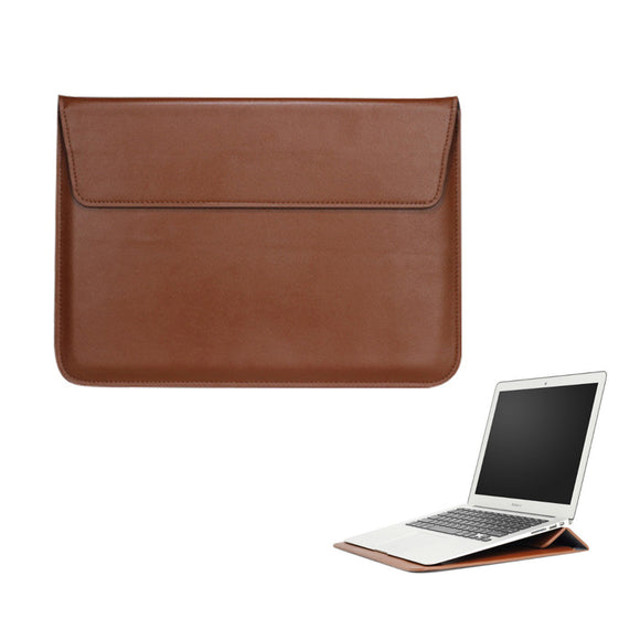 PU Leather Breifcase Carrying Sleeve Cover Holder For Macbook Air Pro Retina 11 12 13 15 Notebook Laptop New Mac book 13 inch