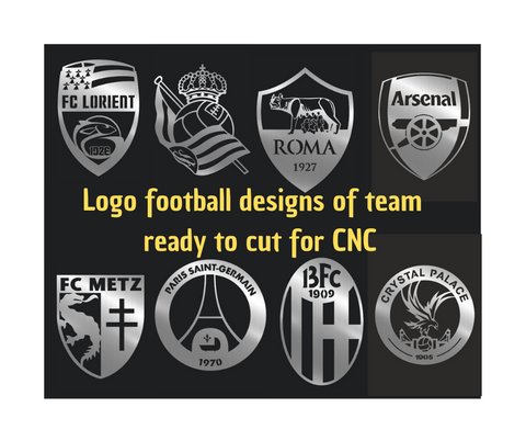 LOGO FOOTBALL AT DXF SVG AI PNG READY TO CUT FOR CNC