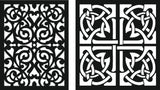 SCROLL DXF PANEL design  plasma Laser router Cut -CNC Vector DXF-CDR AI JPEG  PANEL C15