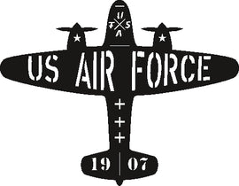 AIR FORCE DESIGN of PLASMA ROUTER LASER  Vector SVG-DXF-CDR-AI-JPEG