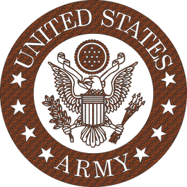 ARMY SIGN DXF of PLASMA ROUTER LASER  Cut -CNC Vector DXF-CDR-AI-JPEG