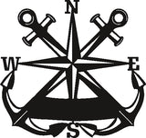 Anchor Nautical Compass DESIGN of PLASMA ROUTER LASER  Vector SVG-DXF-CDR-AI-JPEG