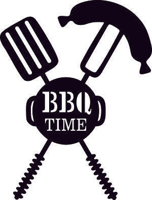TIME OF BARBECUE DXF of PLASMA ROUTER LASER  Cut -CNC Vector DXF-CDR-AI-JPEG