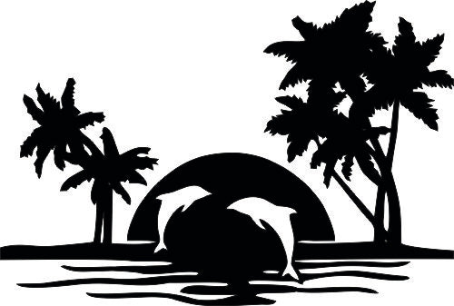 BEACH DUPHIN SVG-DXF-CDR-AI-JPEG of PLASMA ROUTER LASER  Cut -CNC Vector