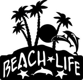 BEACH DXF of PLASMA ROUTER LASER  Cut -CNC Vector DXF-CDR-AI-JPEG