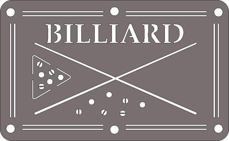 BILLIARD DXF of PLASMA ROUTER LASER  Cut -CNC Vector SVG-DXF-CDR-AI-JPEG