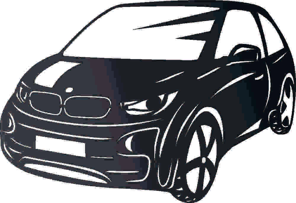 BMW I3 DXF of PLASMA ROUTER LASER  Cut -CNC Vector DXF-CDR-AI-JPEG