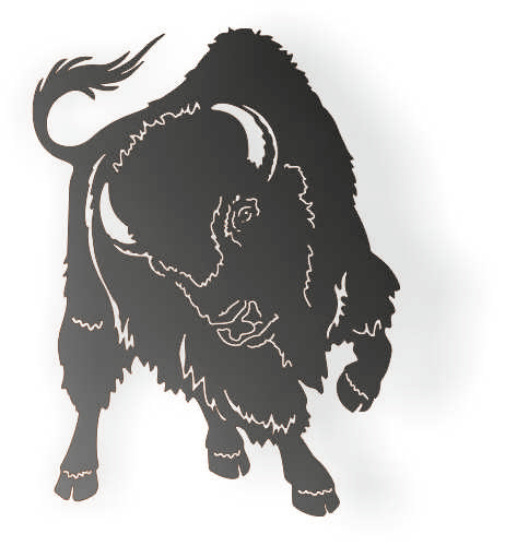 BULL DXF of PLASMA ROUTER LASER  Cut -CNC Vector DXF-CDR-AI-JPEG