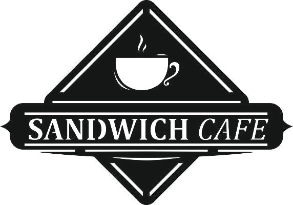 sign sandwich cafe design dxf ai cdr jpeg svg