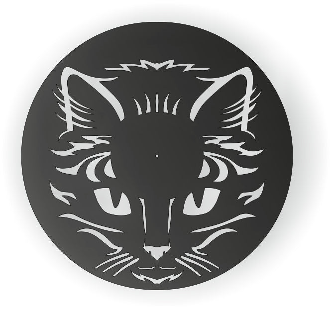 CLOCK  CAT CNC ART AI CDR PLASMA ROUTER LASER CUTTING CAT