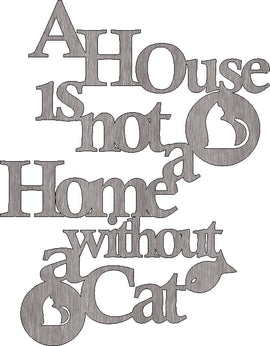 CAT HOME SVG DXF of PLASMA ROUTER LASER  Cut -CNC Vector DXF-CDR-AI-JPEG