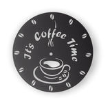 COFFE TIME CLOCK CNC ART AI CDR PLASMA ROUTER LASER CUTTING