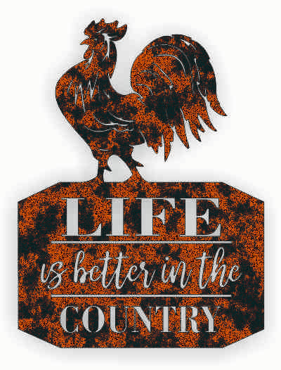 LIFE IN COUNTRY DXF of PLASMA ROUTER LASER  Cut -CNC Vector DXF-CDR-AI-JPEG