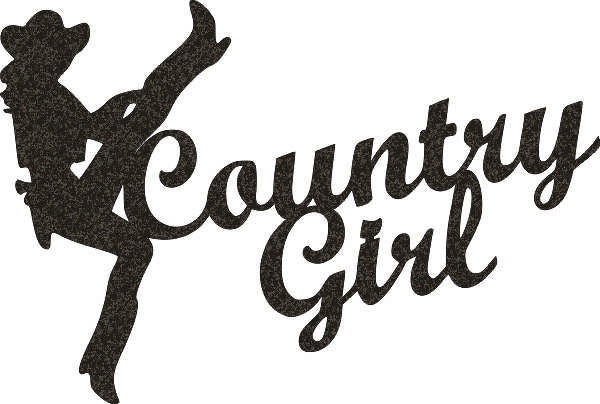 COUNTRY GIRL DXF of PLASMA ROUTER LASER  Cut -CNC Vector DXF-CDR-AI-JPEG