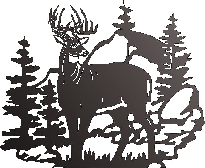 DEER DXF of PLASMA ROUTER LASER  Cut -CNC Vector DXF-CDR-AI-JPEG-SVG