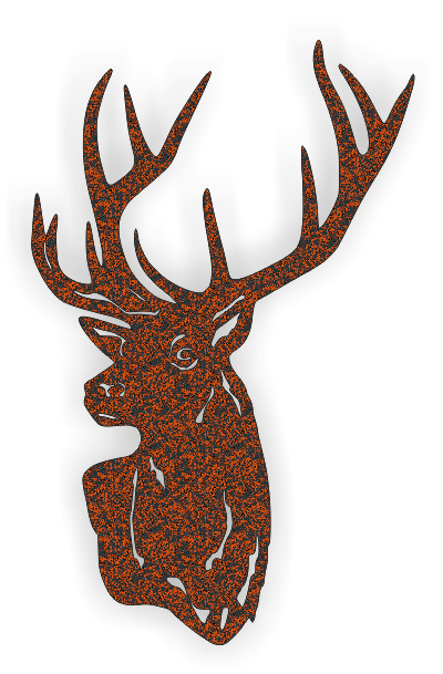 DEER DXF of PLASMA ROUTER LASER  Cut -CNC Vector DXF-CDR-AI-JPEG