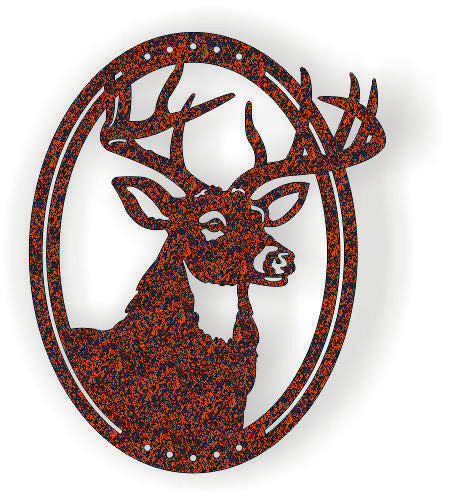 Deer Wall Clock DXF File CNC Vector Plasma Router Laser Cut DXF-CDR Files