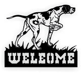 DOG GREYHOUND WELCOME DXF of PLASMA ROUTER LASER  Cut -CNC Vector DXF-CDR-AI-JPEG