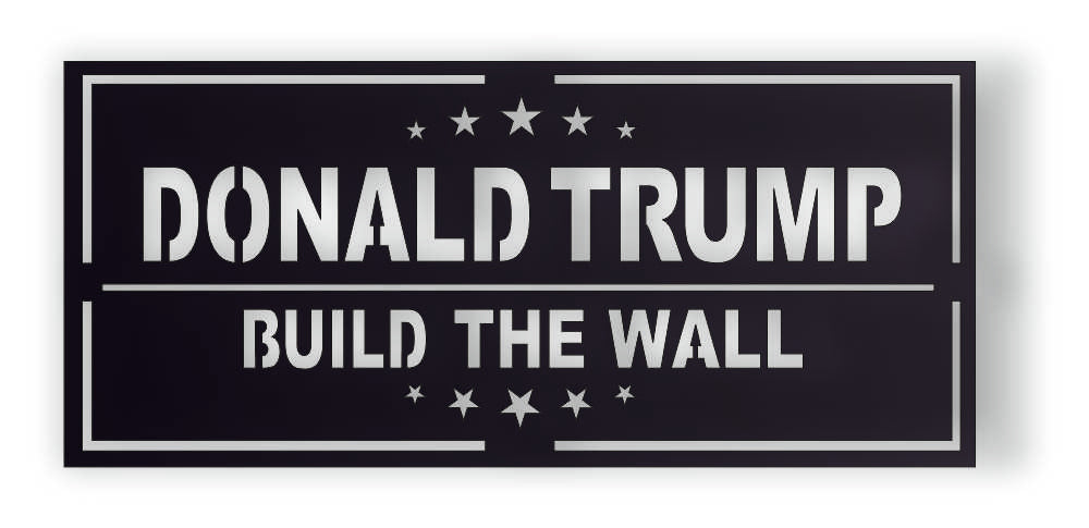 TRUMP BUILD WALL DXF of PLASMA ROUTER LASER  Cut -CNC Vector DXF-CDR-AI-JPEG