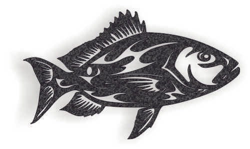 FISH DXF of PLASMA ROUTER LASER  Cut -CNC Vector DXF-CDR-AI-JPEG