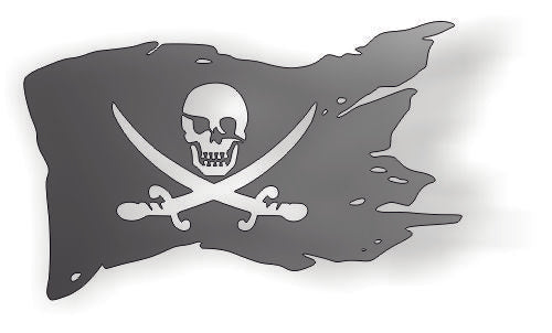 FLAG PIRATE DXF of PLASMA ROUTER LASER  Cut -CNC Vector DXF-CDR-AI-JPEG