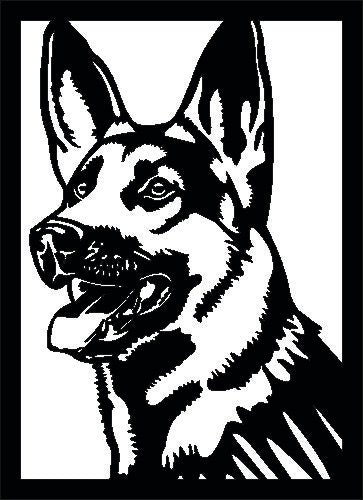 GERMAN SHEPHERD SVG-DXF-CDR-AI-JPEG of PLASMA ROUTER LASER  Cut -CNC Vector