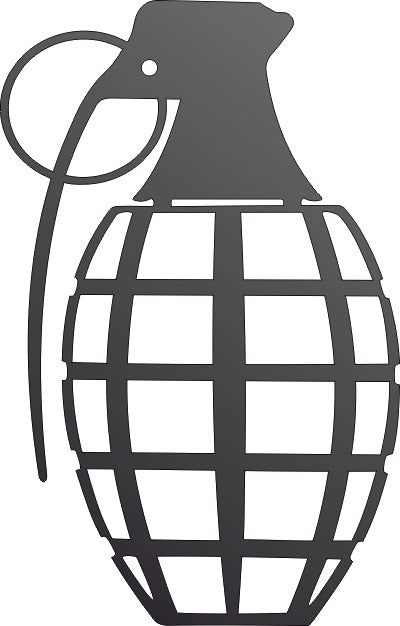 GRENADE DXF of PLASMA ROUTER LASER  Cut -CNC Vector DXF-CDR-AI-JPEG