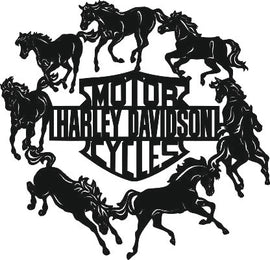 HARLEY DAVIDSON SVG-DXF of PLASMA ROUTER LASER  Cut -CNC Vector DXF-CDR-AI-JPEG
