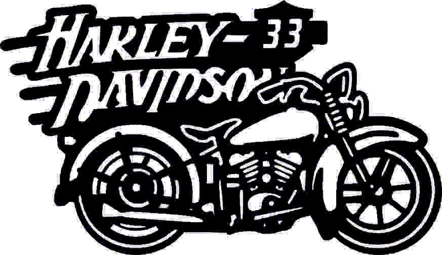 HARLEY MOTO DXF of PLASMA ROUTER LASER  Cut -CNC Vector DXF-CDR-AI-JPEG