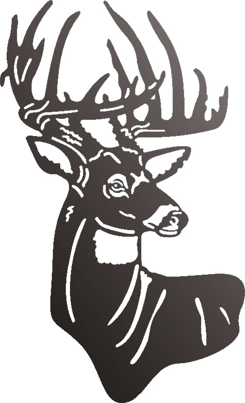 HEAD DEER DXF of PLASMA ROUTER LASER  Cut -CNC Vector DXF-CDR-SVG-AI-JPEG