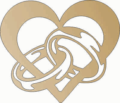 HEART LOVE DXF of PLASMA ROUTER LASER  Cut -CNC Vector DXF-CDR-AI-JPEG