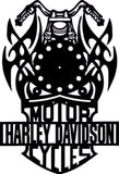 HARLEY CLOCK  CNC ART AI C [DR PLASMA ROUTER LASER CUTTING