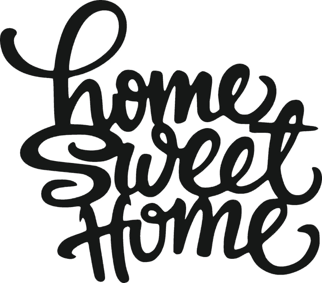 HOME SWEET SIGN DXF of PLASMA ROUTER LASER  Cut -CNC Vector DXF-CDR-AI-JPEG