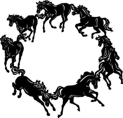 HORSE SVG-DXF-CDR-AI-JPEG of PLASMA ROUTER LASER  Cut -CNC Vector