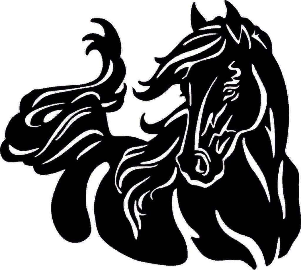 HORSE WALL DXF of PLASMA ROUTER LASER  Cut -CNC Vector DXF-CDR-AI-JPEG
