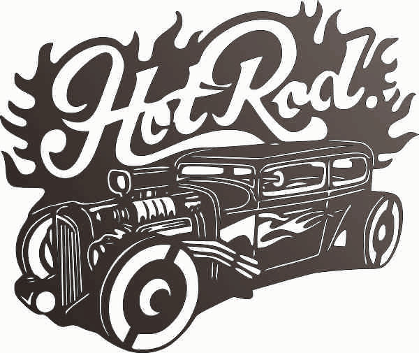 HOT ROAD CAR DXF of PLASMA ROUTER LASER  Cut -CNC Vector DXF-CDR-AI-JPEG