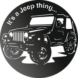 JEEP CLOCK CNC ART AI CDR PLASMA ROUTER LASER CUTTING
