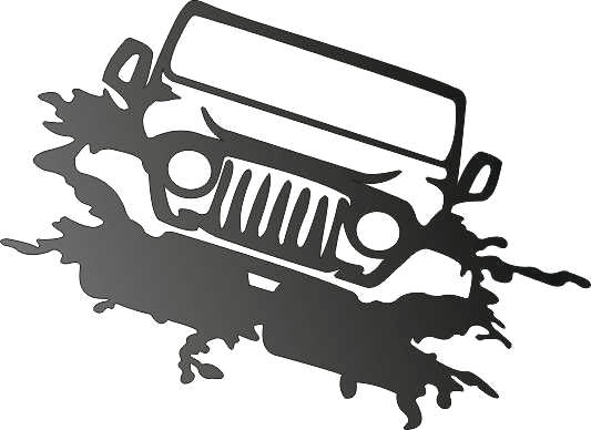 JEEP DXF of PLASMA ROUTER LASER  Cut -CNC Vector DXF-CDR-AI-JPEG