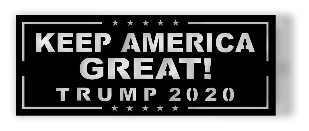 KEEP AMERICA GREAT DXF of PLASMA ROUTER LASER  Cut -CNC Vector DXF-CDR-AI-JPEG